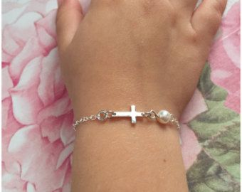 Custom Baby Bracelet Small Child Tiny Cross For Children Infant Jewelry