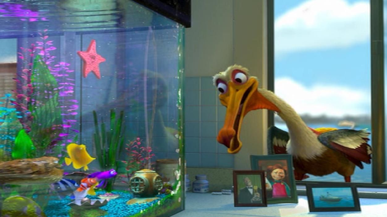 Fish in the tank finding nemo - Nigel S Line Fish Gotta Swim Birds Gotta Eat Is A Reference Finding Nemo
