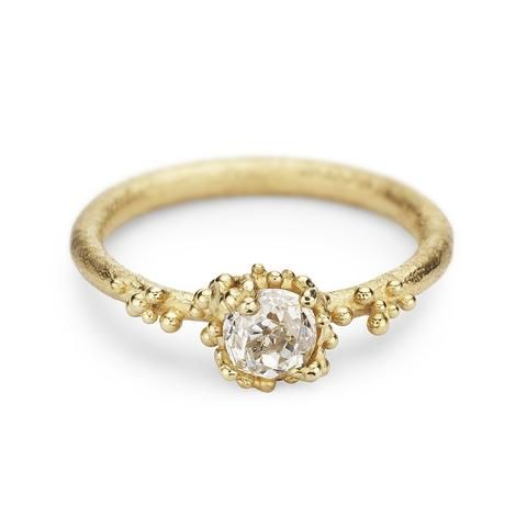 Solitaire diamond engagement ring by Ruth Tomlinson, handmade in London