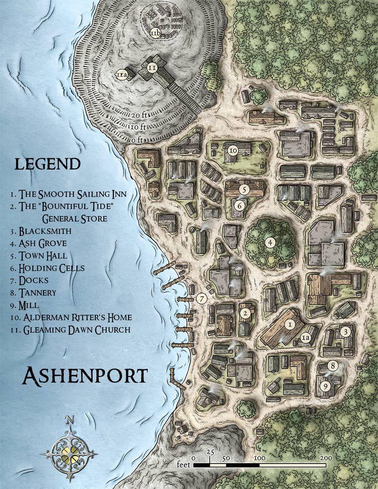 Fantasy City Map Generator : fantasy, generator, Ashenport, Fantasy, World