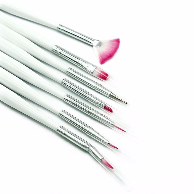 2017new 7 Pcs Nail Art Decorations Makeup Brushes Brush Set Tools Professional Painting Nail Tips Uv Nail Gel Polish Uv Nails Gel Nails Professional Paintings