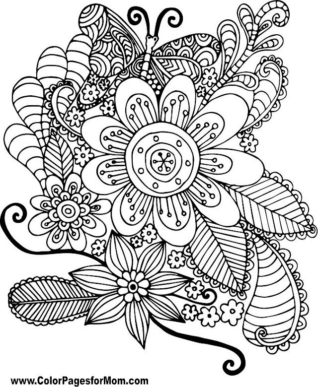 Butterfly Coloring Page 39 | Butterflies to Color | Pinterest ...