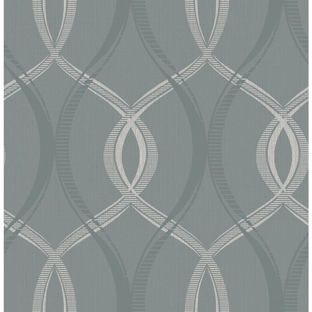 Brewster Echo Blue Lattice Wallpaper Sample 2662001916SAM