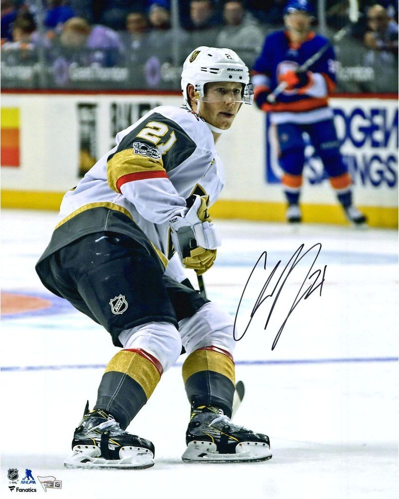 eae278c7 Cody Eakin Golden Knights Signed 16x20 White Jersey Skating Photo - Fanatics