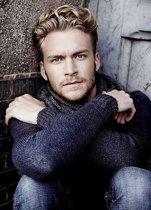 Curly Blonde Hairstyles For Guys With Images Beard Styles For
