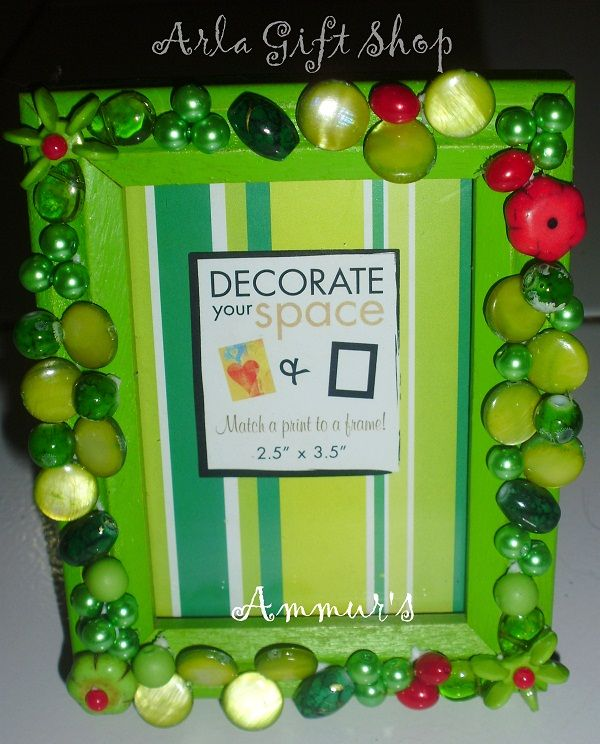 This is my first Mix Beads Collage Frame :D made of various beads ...