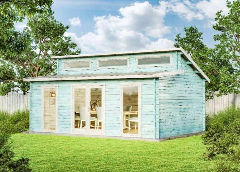 Gartenhaus Lausitz ISO mit Anbau Gartenhaus, Anbau