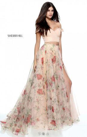5f46713bc730 Floral Prom Dress Long