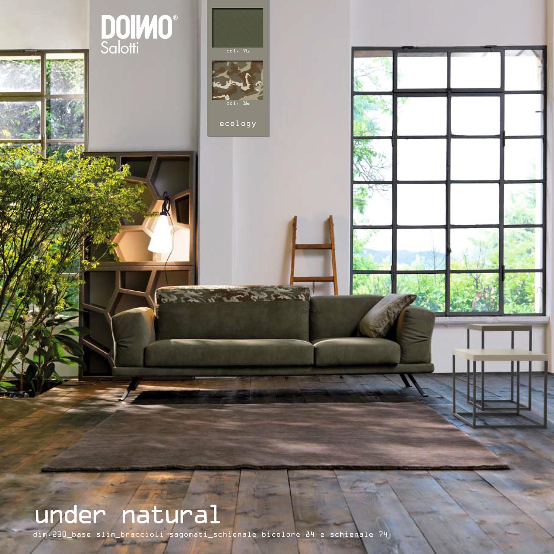 Braccioli sagomati e schienale alto bicolore: questo il #divano ...