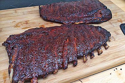 Köstliche BBQ Spareribs für Smoker und Backofen mit Soße und Gewürzmischung #marinadeforbeef