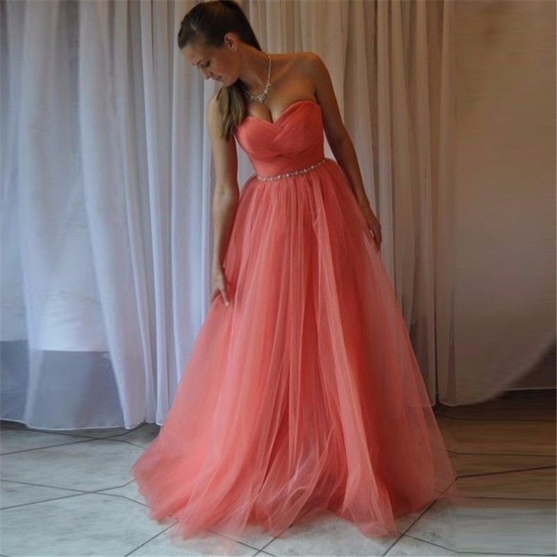 Free Shipping  Buy Best Cheap Watermelon Red Bridesmaid Dresses Elegant A 13140464899e