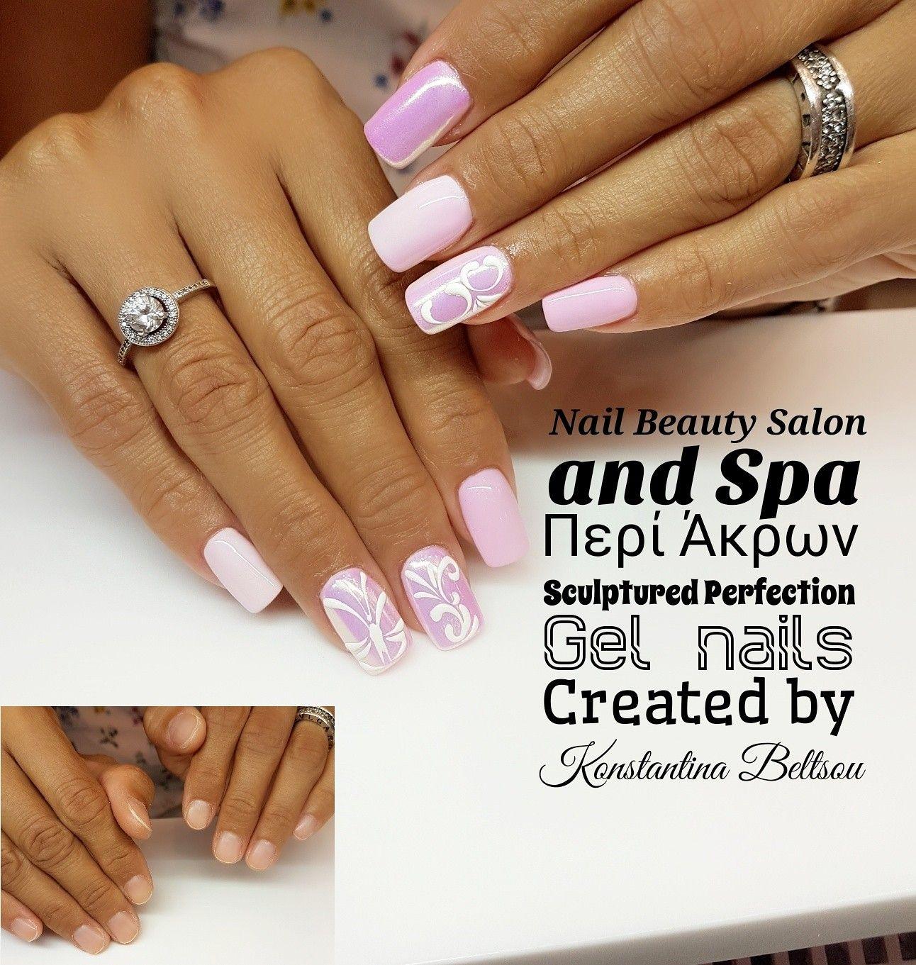 Gel nails, pink nails, mirror effect, nail art, long square Oval ...