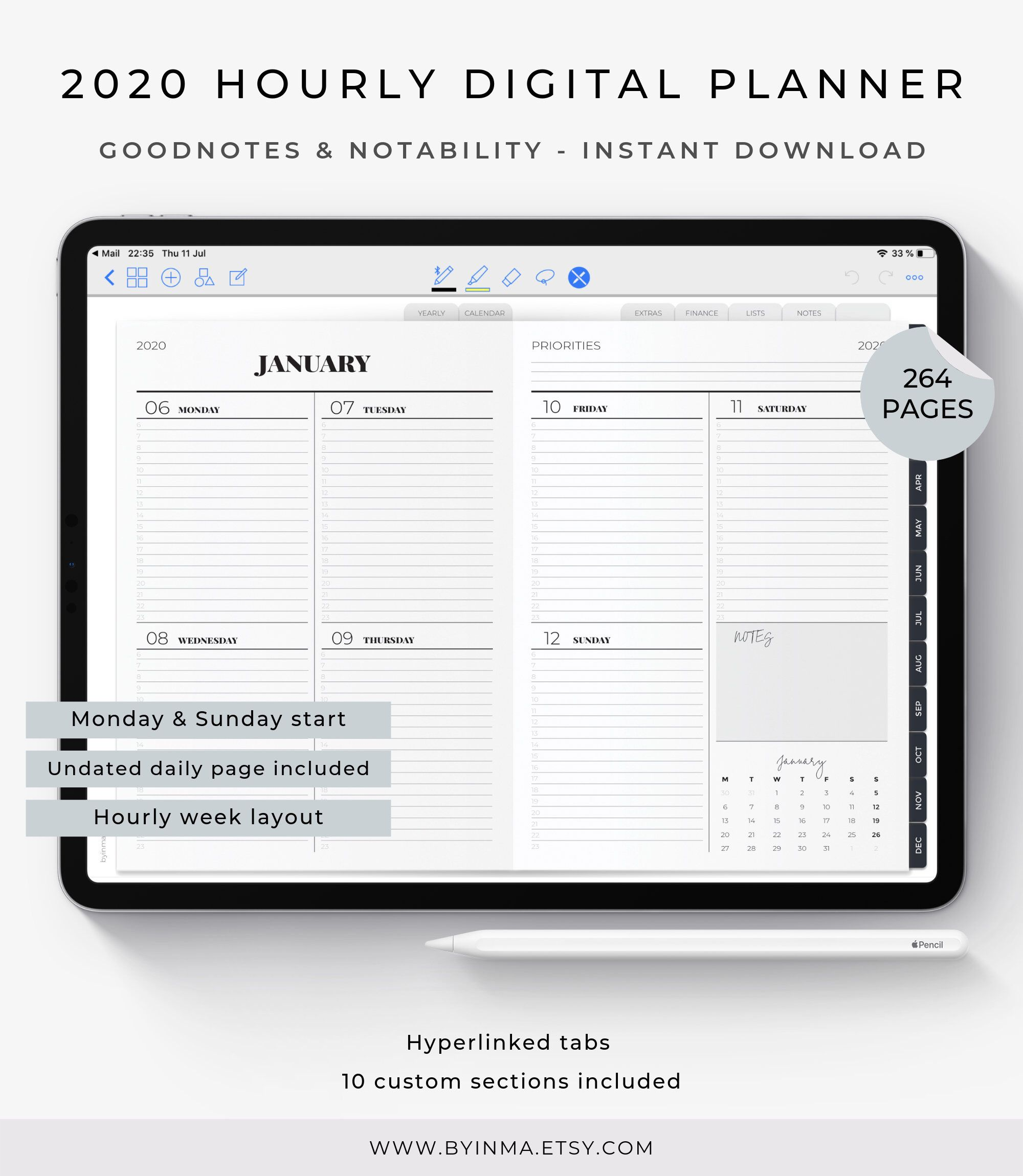 Digital Planner 2020 Goodnotes Planner Digital Planner For Men