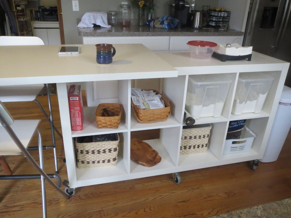 Great Extendable Kitchen Island Using Expedit And Linmon   IKEA Hackers. This  Isnu0027t Exactly