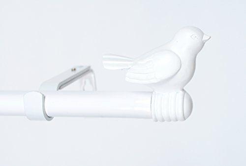 Urbanest 3 4 Inch Bird Adjustable Curtain Rod 48 Inches Https Www Amazon Com Dp B01dfkn9z4 Ref