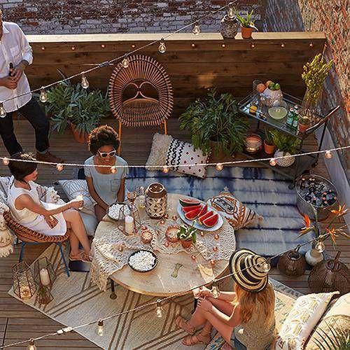 Inspiración para decorar terrazas y balcones Patios, Interiors and - decoracion de terrazas con plantas