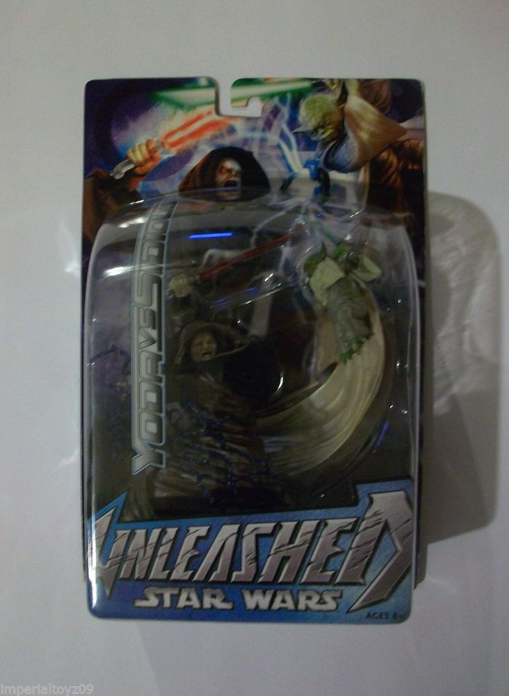 "Yoda vs Sidious 7/"" Scale 2003 STAR WARS Unleashed Hasbro MOC"
