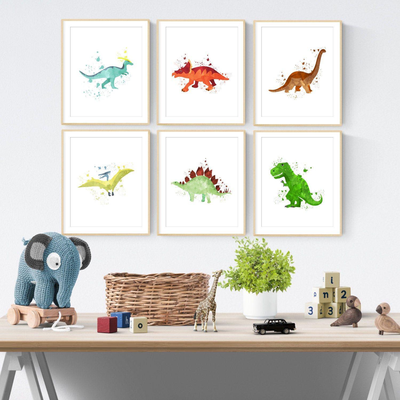 Boys Dinosaur Art Dinosaur Nursery Art Dinosaur Bedroom Etsy Baby Room Wall Art Art Wall Kids Dinosaur Wall Art