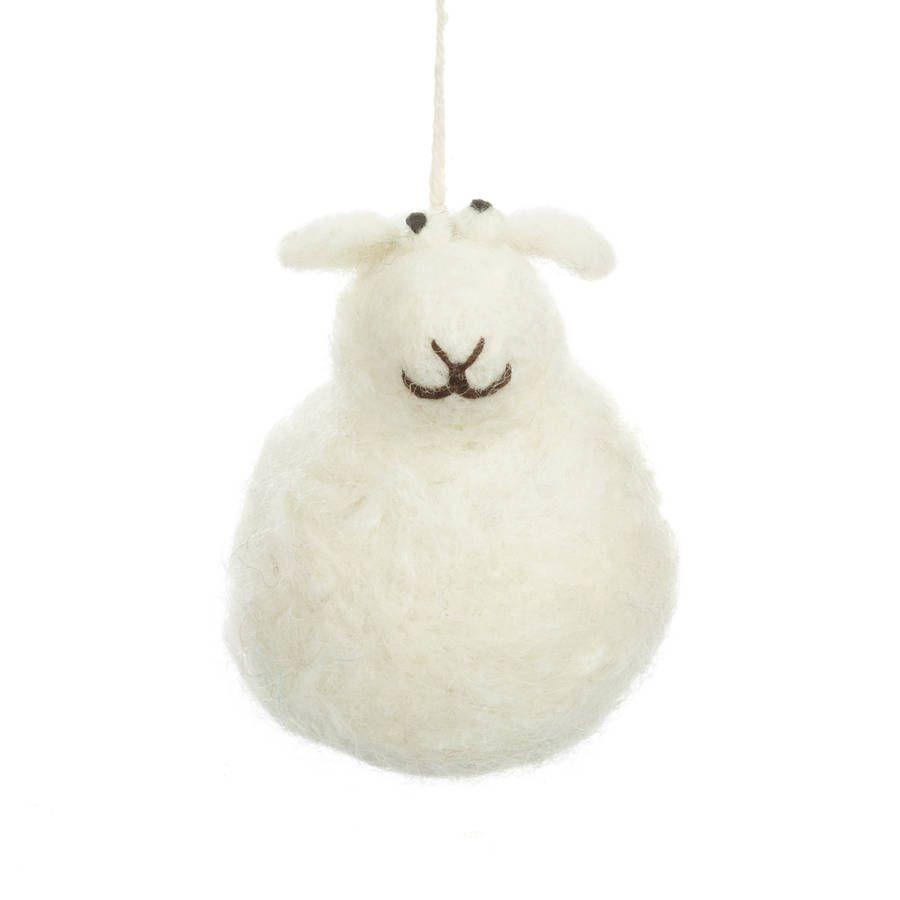 Handmade Felt Hanging Sheep Tree Decorations Christmas Tree