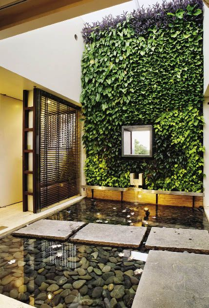 Of Courtyards Pergolas Amp Water Bodies Inside Outside Magazine Pond Design Indoor Water