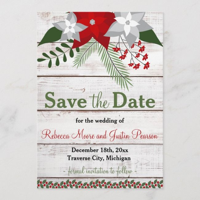 Holiday Charm - Winter/Christmas Save The Date    Holiday Charm - Winter/Christmas Save The Date