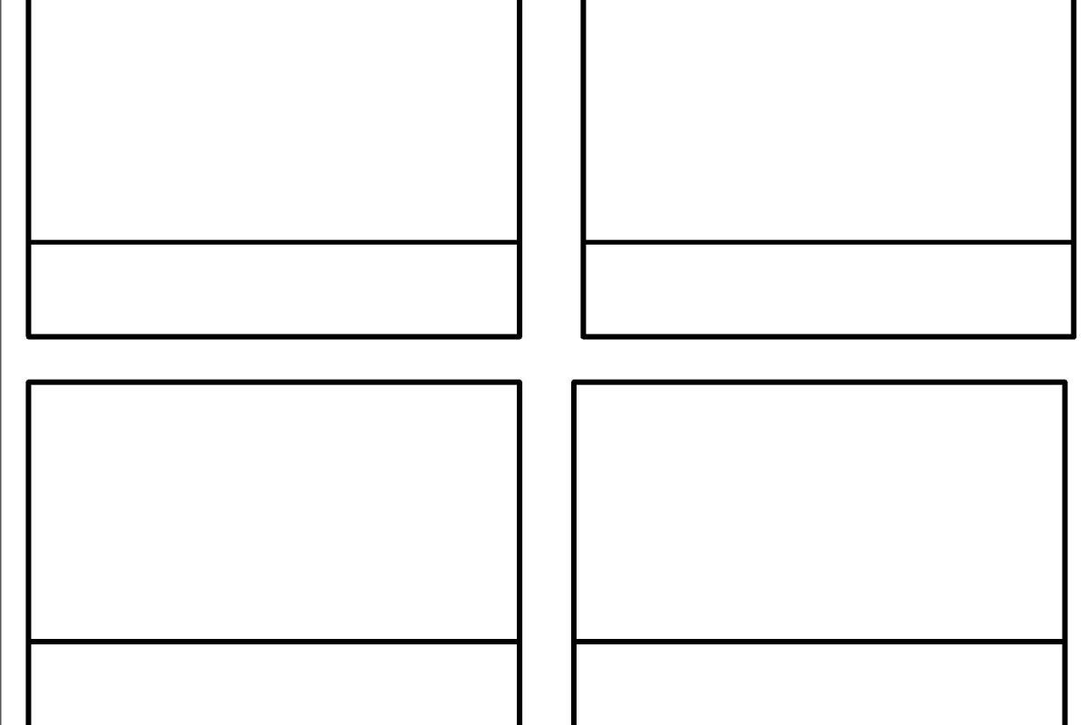 Blank 3 Part Card Template Flash Card Template Card Template Templates