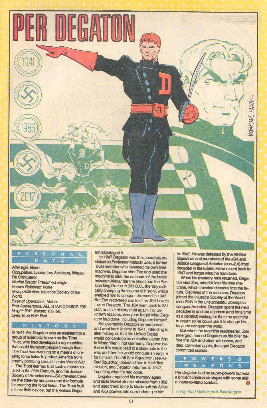 Whos Who In The Dc Universe Per Degaton Jpg 936 1427 Make A Comic Book Dc Comics Characters Comic Books Art