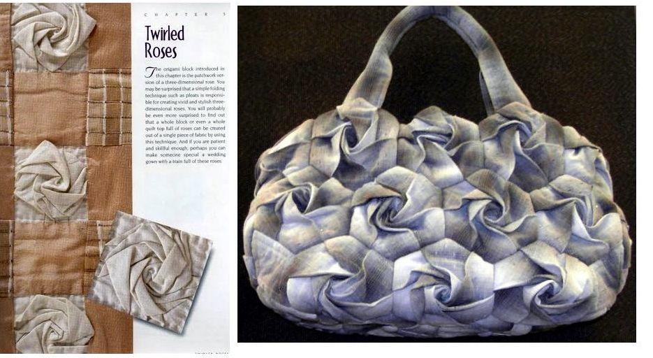 Flor hexagonal para decorar bolsos 8
