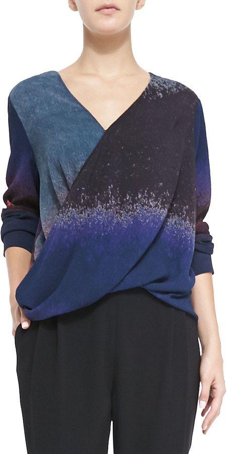 Derek Lam 10 Crosby Silk Wrap-Front Blouse on shopstyle.com