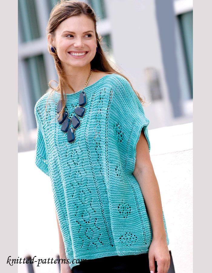 Knitting Summer Sweater : Summer pullover knitting pattern free blouses