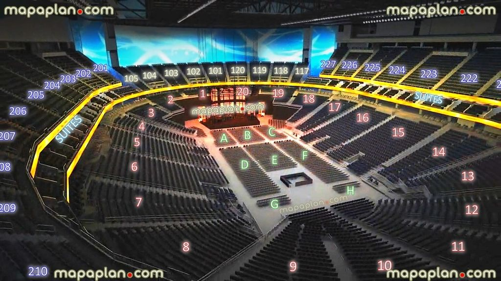 T Mobile Arena Interactive Seating Chart Di 2020