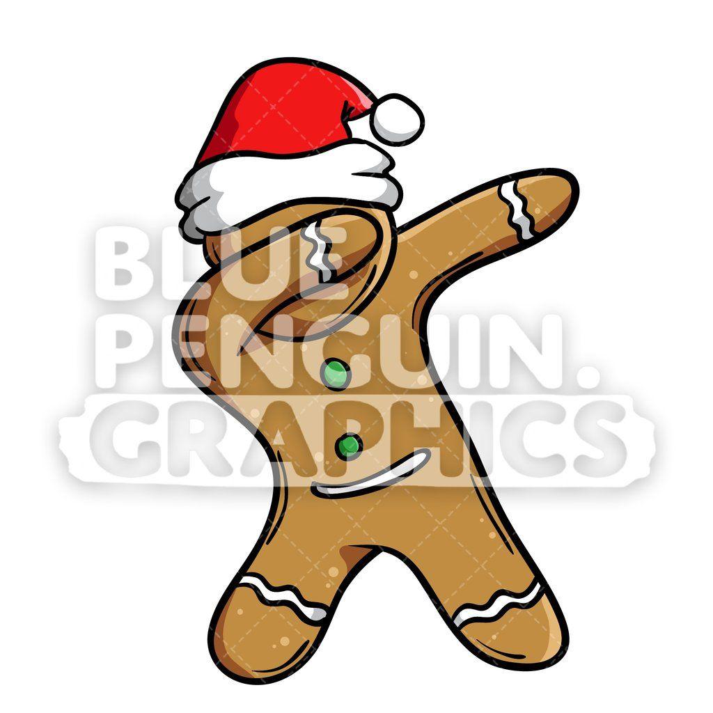 Christmas Gingerbread Man Cookie Dabbing Vector Cartoon Clipart Illustration Cartoon Clip Art Christmas Gingerbread Men Christmas Cartoons
