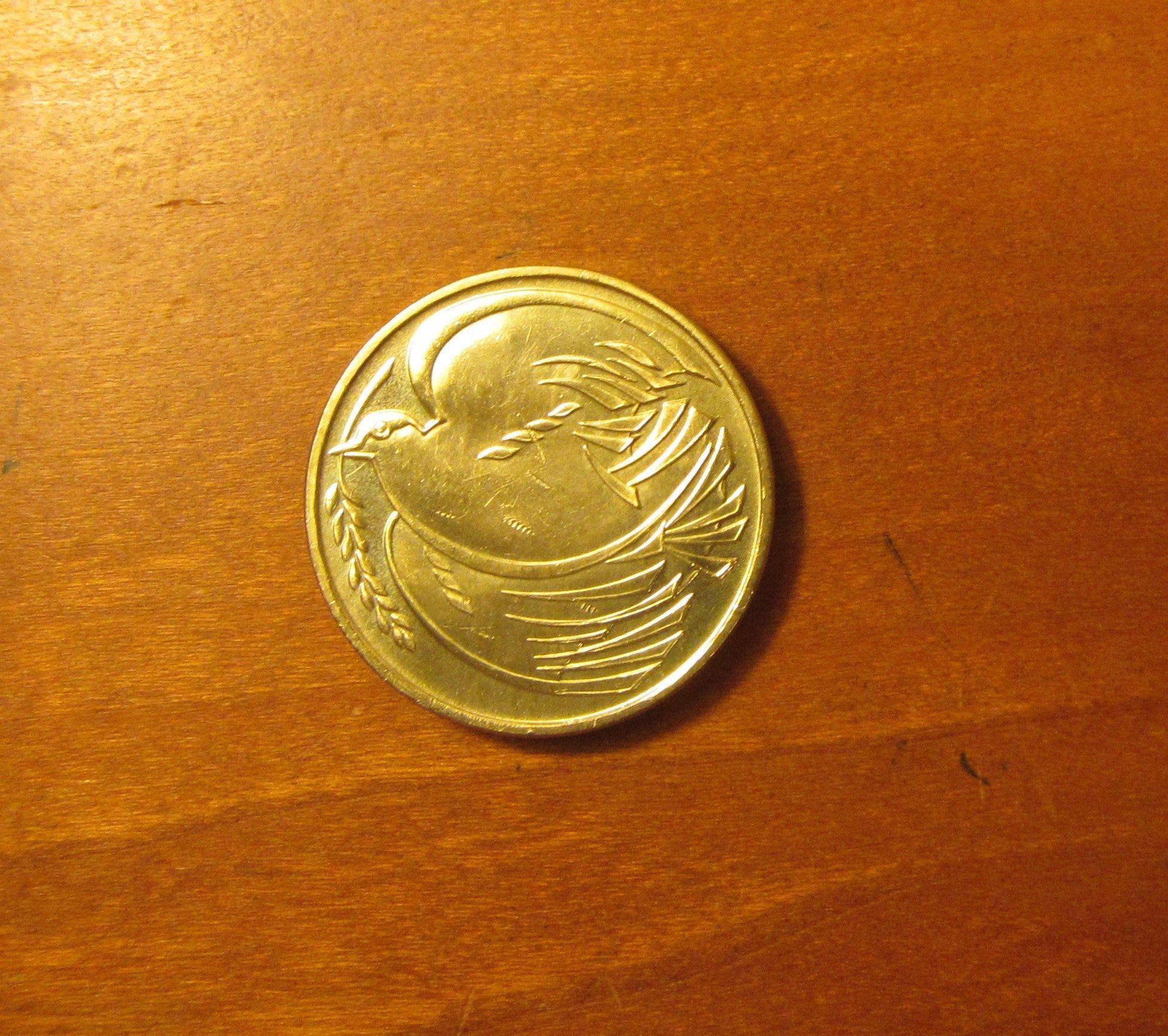 2 pound dove coin