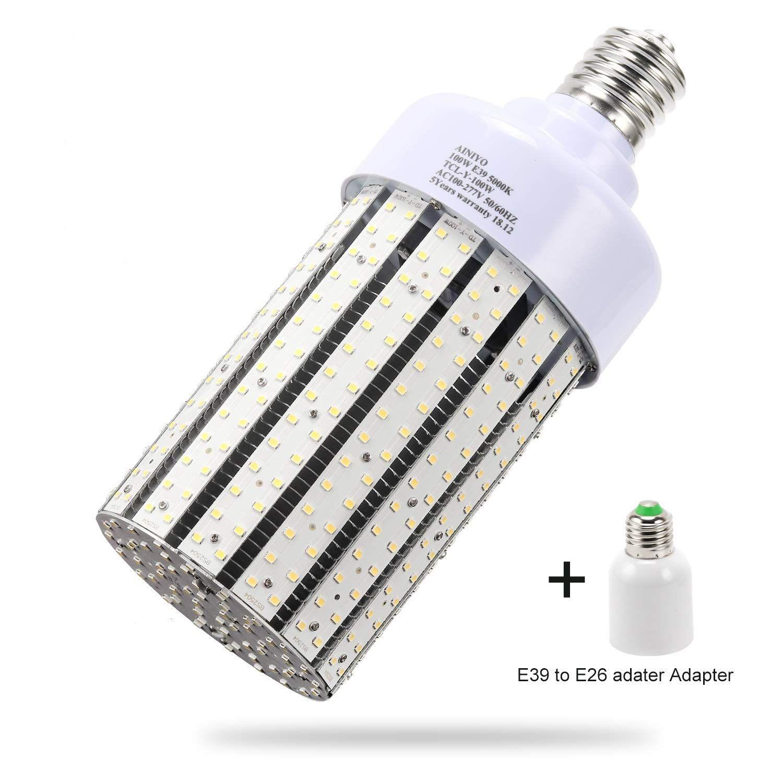 100w Led Corn Cob Light Bulb Large Mogul Base E39 Led Bulbs 5000k Daylight Ac110 277v Led Replacement 400w Metal Halide Hid Hps For S Led Bulb Bulb Light Bulb