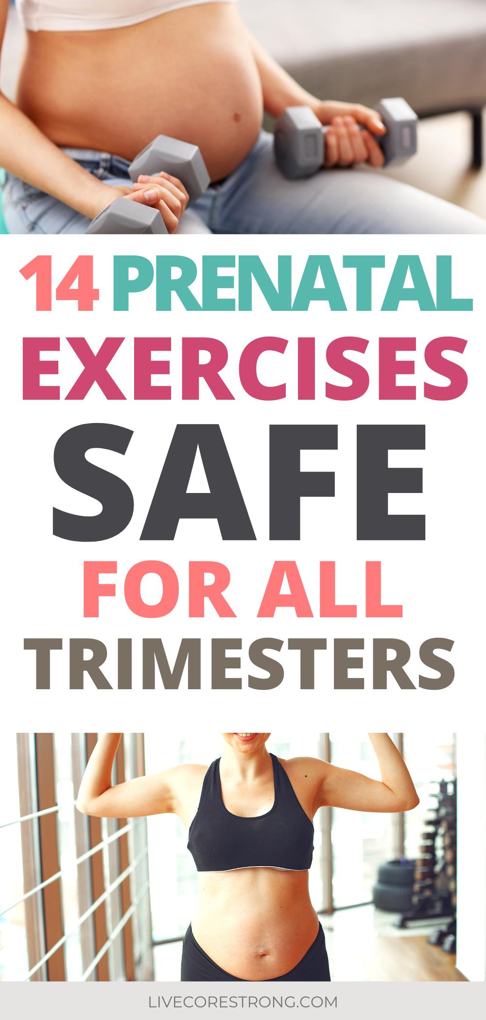 #Schwangerschaft 14 Pregnancy Safe Exercises for All Trimesters as Prescribed by A Physical Therapist (Best Prenatal - Schwangerschaft