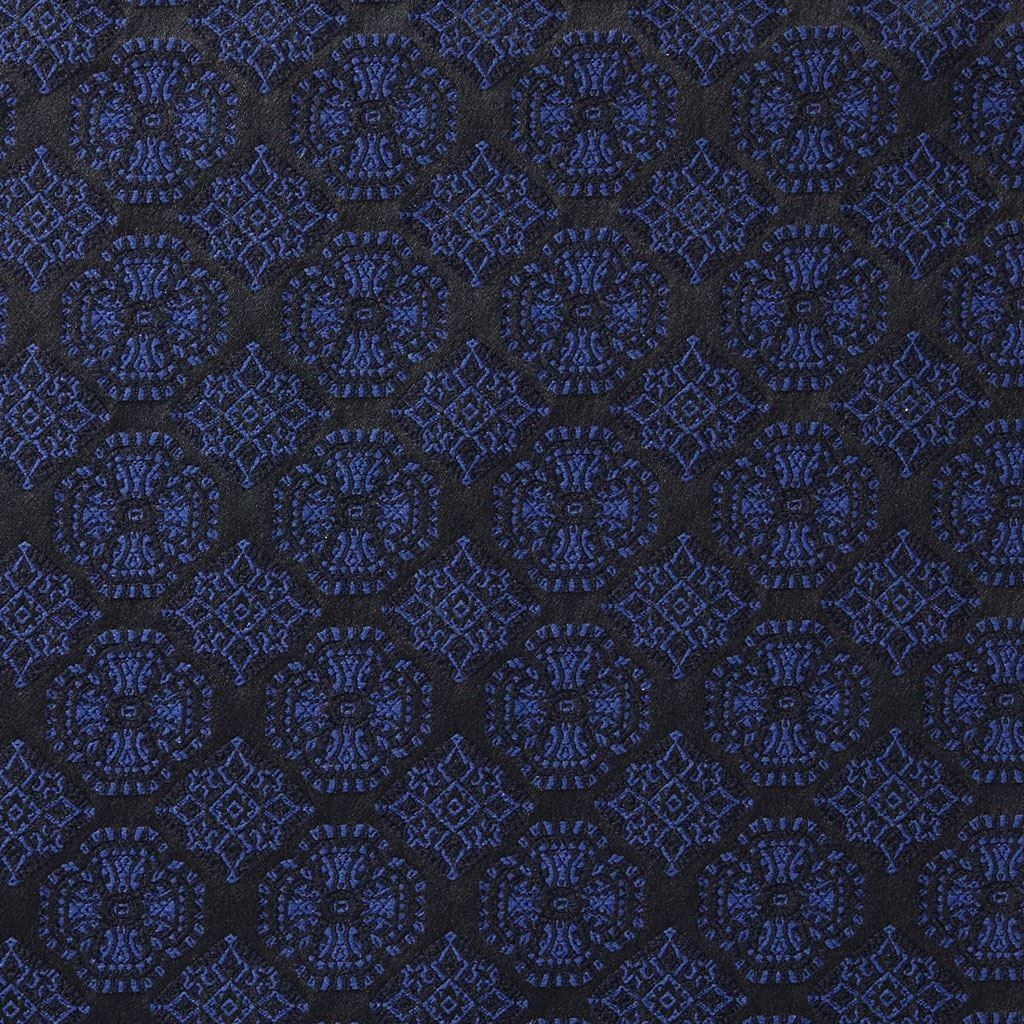 tissu jacquard motifs bleus mondial tissus fabrics pinterest. Black Bedroom Furniture Sets. Home Design Ideas