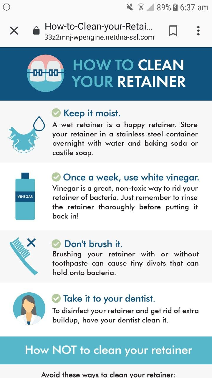 Homemade retainer cleaning how to clean retainers diy