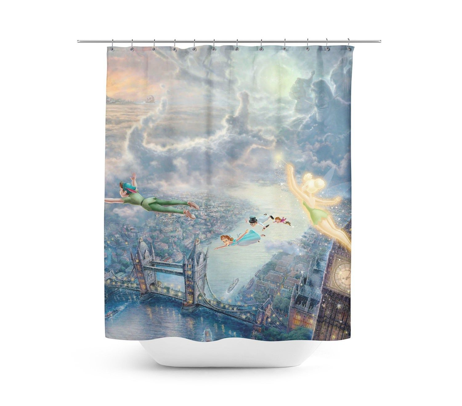 Peter Pan Disney Painting Shower Curtain