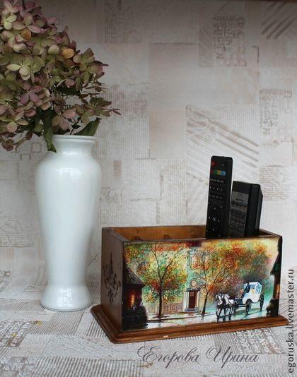 Подставка для пультов и мобильных телефонов Старая Прага - подставка,подставка для пультов