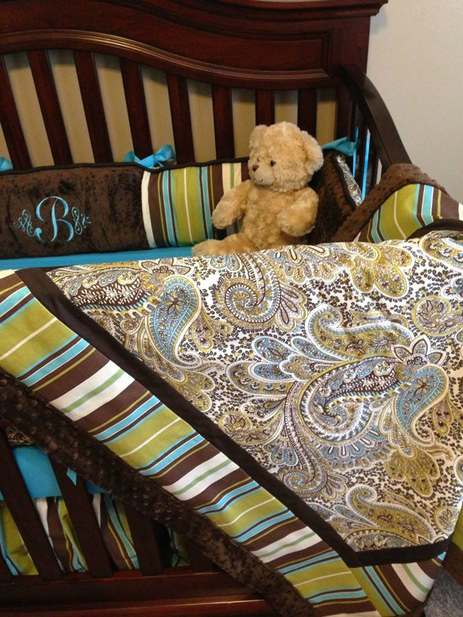 Modpeapod Customers Nursery Modern Custom Made Crib Baby Bedding Set