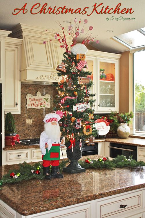 A Christmas Kitchen With Images Christmas Kitchen Decor