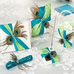 Peacock Feather Wedding Accessory Collection