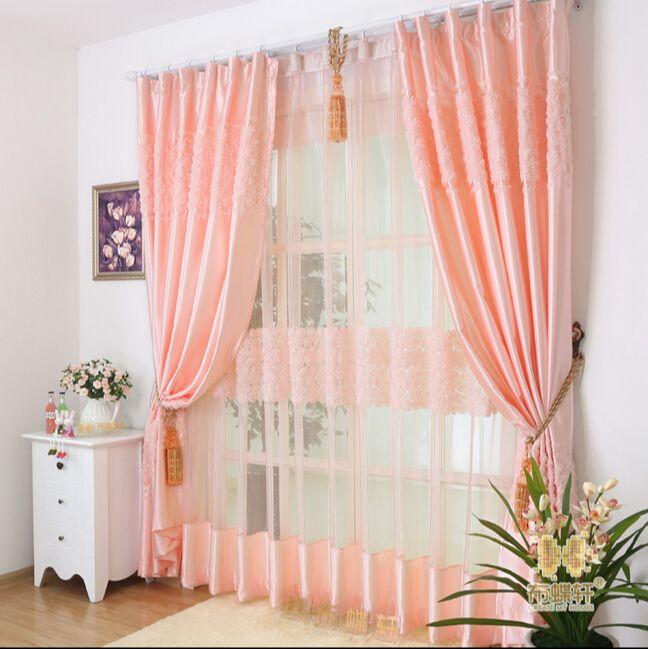 Fertigen Vorhänge Stoff Rose Dreidimensionale Qualität Fauxseide - vorhänge für wohnzimmer
