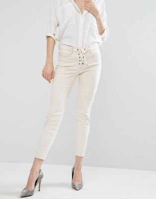 Blank NYC Skinny Jean with Lace Up