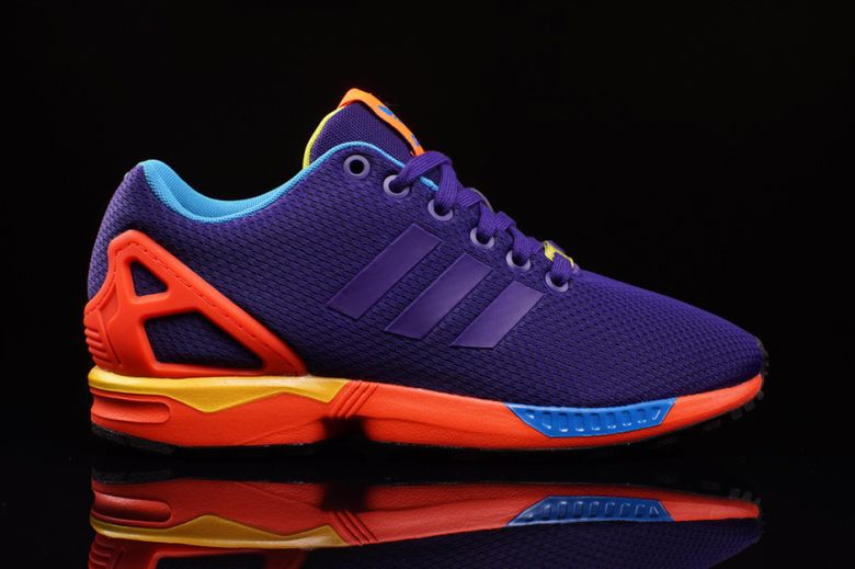 adidas zx flux purple and orange