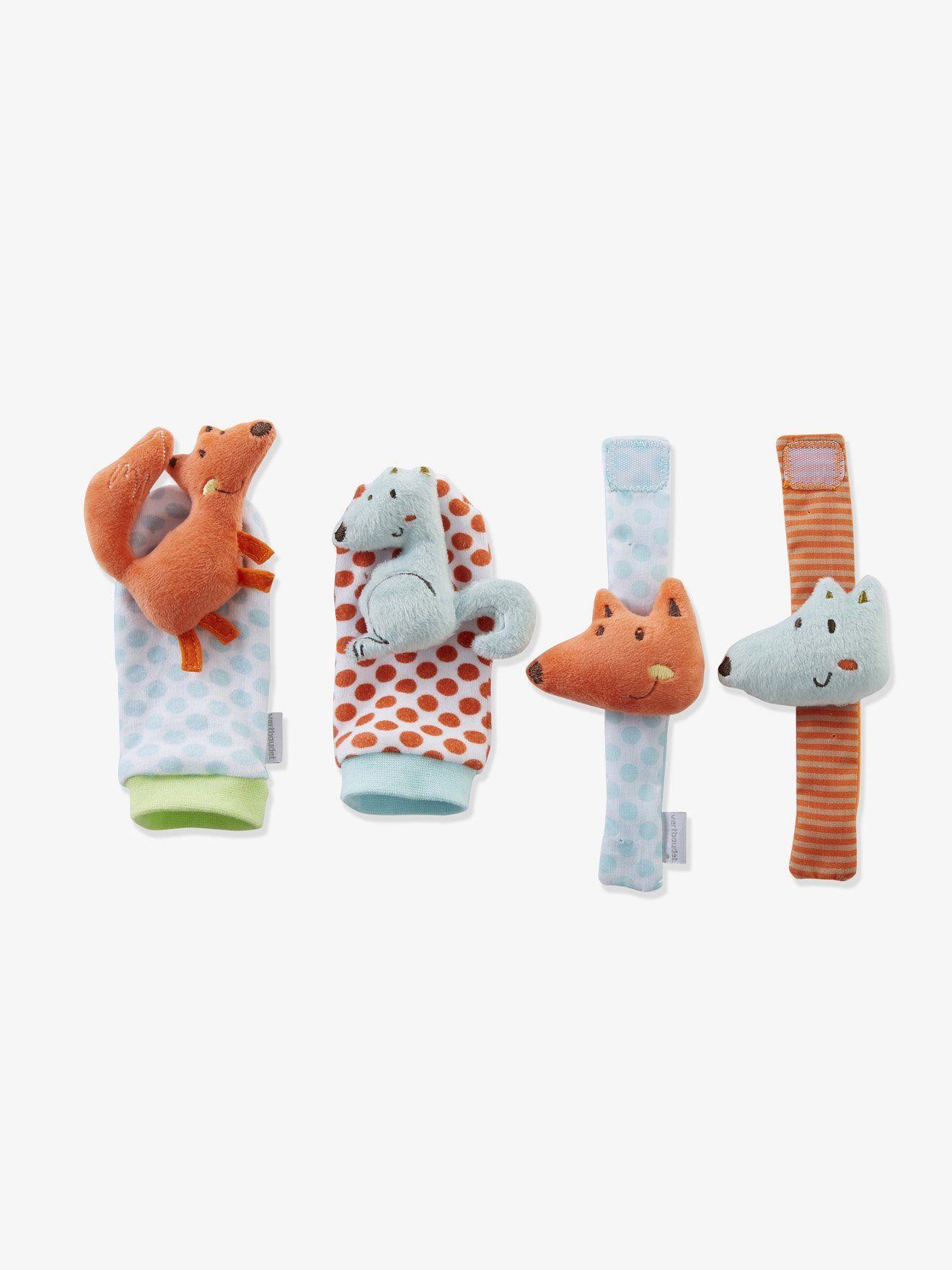 b0a4b40628a20 Hochets d activités bébé bracelets et chaussons renard - écureuil  multicolore - Jouet d