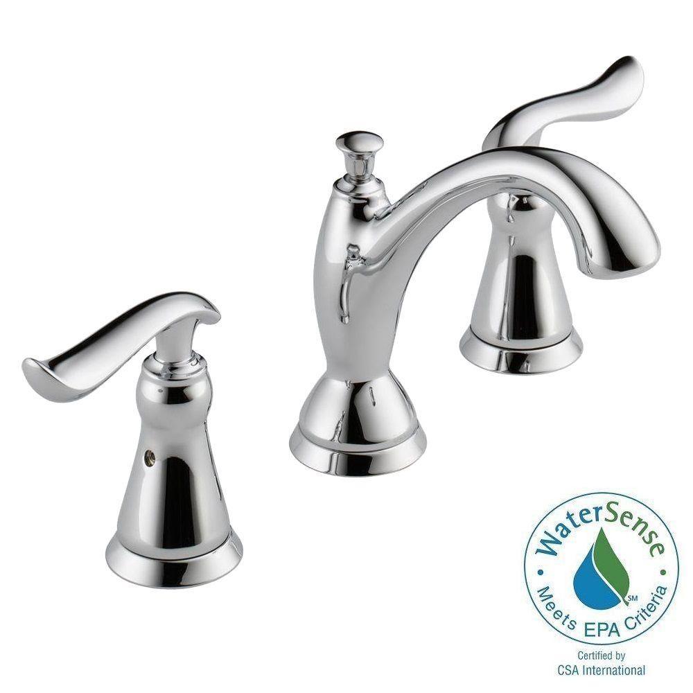 Delta Linden 8 In Widespread 2 Handle Bathroom Faucet With Metal