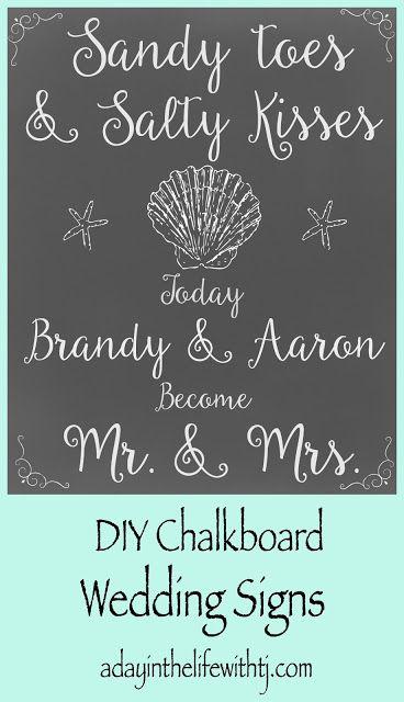 Diy Beach Wedding Signs Diy Beach Wedding Beach Wedding