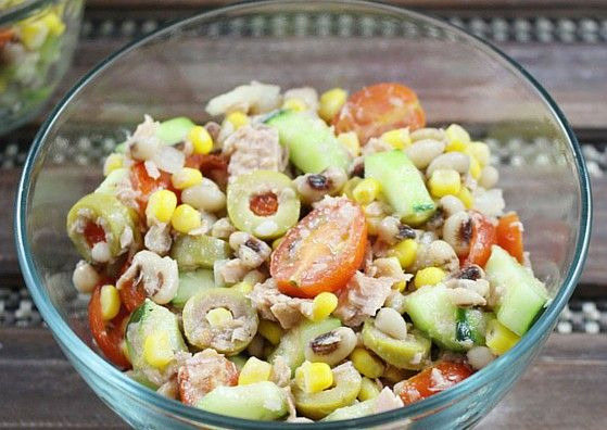 Tuna and Black Eye Pea Salad