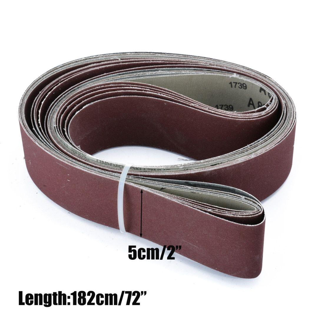 6pcs 180 240 320 400 600 800 Grit 2 X 72 Grit Sanding Belts For Abrasive Tool Wood Metal Oxide Sander Belt Power Tools Mayitr 6pcs Grit Belt Sanding Grit